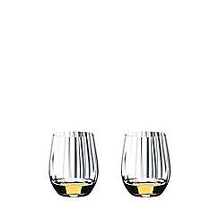 Riedel - Set of 2 crystal 'O Optical' whisky glass