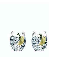 Riedel - Set of 2 crystal 'O Optical' long drink glass
