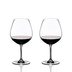 Riedel - Set of 2 crystal 'Vinum' Pinot Noir wine glasses