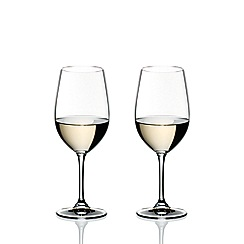 Riedel Set Of 2 Crystal Vinum Riesling And Zinfandel Wine Gles