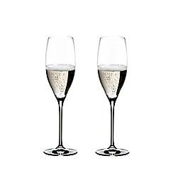 Riedel - Set of 2 crystal 'Vinum' Cuveé Prestige champagne flutes