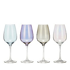 Star by Julien Macdonald - Set of 4 Mixed Lustre Wine Glasses