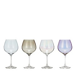 Star by Julien Macdonald - Set of 4 Mixed Lustre Gin Glasses