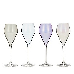 Star by Julien Macdonald - Set of 4 Mixed Lustre Prosecco Glasses