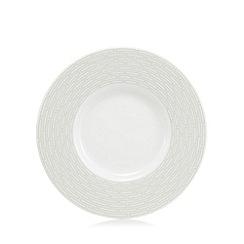 J by Jasper Conran - Grey geometric print 'Beckton' tea saucer