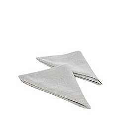 Home Collection - Pack of 4 silver metallic napkins