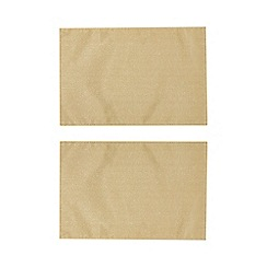 Home Collection Pack Of 2 Gold Metallic Placemats