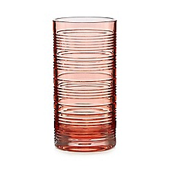 Home Collection - Red ribbed highball glass