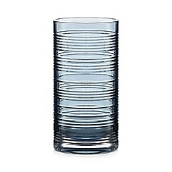 Home Collection - Blue ribbed highball glass