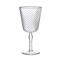 Home Collection - Clear plastic ribbed wine glass