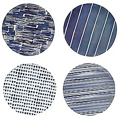 Home Collection - Pack of 4 patterned melamine plates