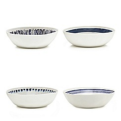Home Collection - Set of four white melamine bowls