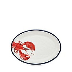 Home Collection - White melamine lobster print serving plate