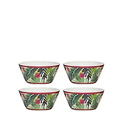 At home with Ashley Thomas - Set of four multi-coloured cereal bowls