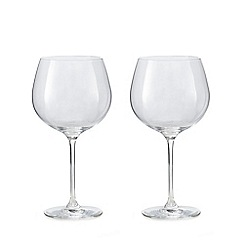 J by Jasper Conran - Set of 2 crystal gin glasses