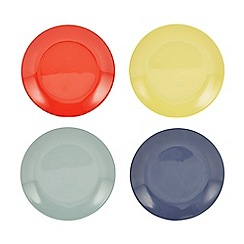 Debenhams - 4 Pack Assorted Melamine Side Plates
