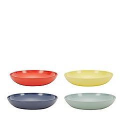 Debenhams - 4 Pack Assorted Melamine Pasta Bowls