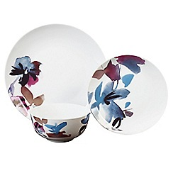 Home Collection - Multi-coloured porcelain 'Flora' 12 piece dinnerware set