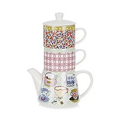 At home with Ashley Thomas - Tea shop print 3 piece tea set