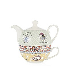 At home with Ashley Thomas - Tea shop print tea for one set