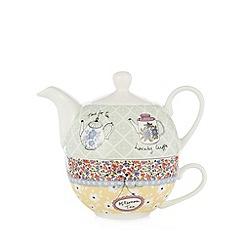At home with Ashley Thomas - Tea shop print tea for one set
