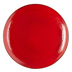 RJR.John Rocha - Red glazed 'Pico' dessert plate