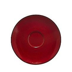 RJR.John Rocha - Red glazed 'Pico' tea saucer