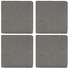 RJR.John Rocha - Pack of 4 slate rough edge coasters