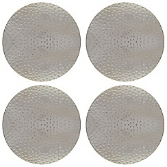 RJR.John Rocha - Pack of 4 silver hammered coasters