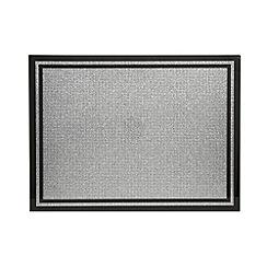 Star by Julien Macdonald - Black glass glitter placemat