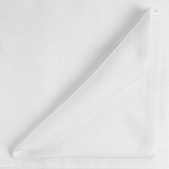 Debenhams - White large rectangular tablecloth