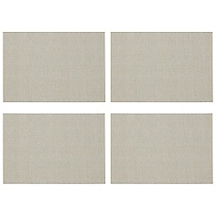 Home Collection Basics - Pack of 4 taupe placemats