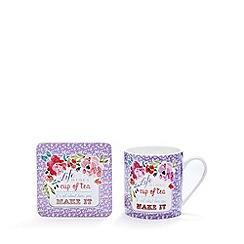 At home with Ashley Thomas - 'Life Is Like A Cup Of Tea' mug and coaster set