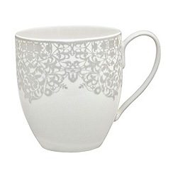 Denby - 'Monsoon Filigree Silver' large mug