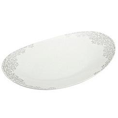 Denby - 'Monsoon Filigree Silver' large oval platter