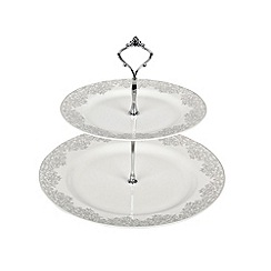 Denby - 'Monsoon Filigree Silver' cake stand