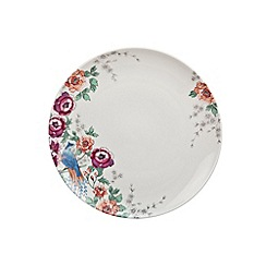 Denby - Cream 'Monsoon Kyoto' floral print dinner plate
