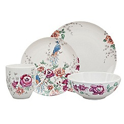 Denby - Cream floral \u0027Kyoto\u0027 16 piece dinnerware set  sc 1 st  Debenhams & Denby - Dinner sets - Home | Debenhams