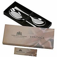 Arthur Price - Vintage stainless steel pair of servers