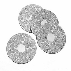 Arthur Price - Set of 4 silver plated Drinks Mats luxury home tableware