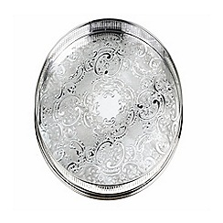 Arthur Price - Silver plated home tableware 12 inch round embossed Gallery Tray