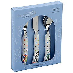 Arthur Price Cherish Me Boys 3 Piece Stainless Steel Children S Cutlery Set