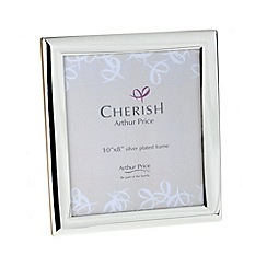 Arthur Price - 'Oxford' silver plated Photo Frame holds 10 x 8 inch photograph
