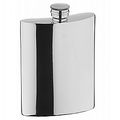 Arthur Price - Plain 6 oz pewter Hip Flask