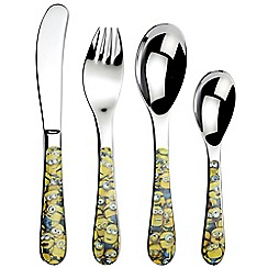 Arthur Price Sea Of Minions 18 10 Stainless Steel 4 Piece Childrens Cutlery Set