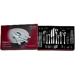Arthur Price - 'Regency' 18/10 stainless steel 44 piece 6 person boxed cutlery set for luxury home dining
