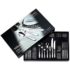 Arthur Price - 'Willow' 18/10 stainless steel 42 piece 6 person boxed cutlery set for luxury home dining