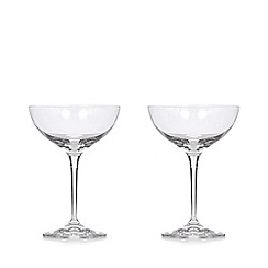 J by Jasper Conran - Set of 2 crystalline champagne saucers