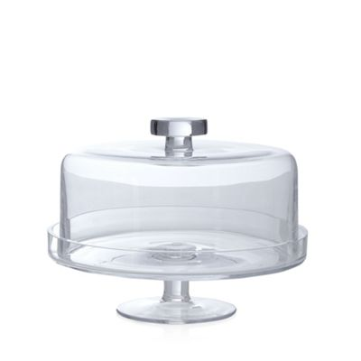 J By Jasper Conran Glass Cake Stand With Lid Debenhams