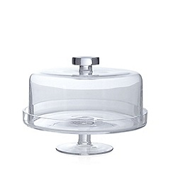 J by Jasper Conran - Glass cake stand with lid